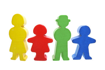 Wooden Family Figures