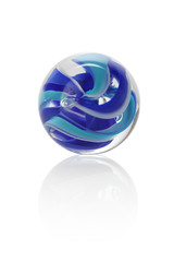 Isolated blue glass marbel