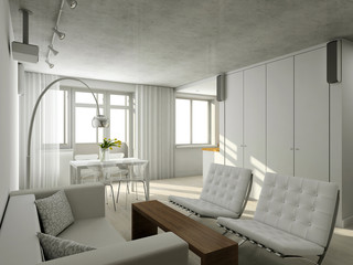 Interioir of modern living-room