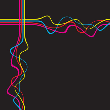 Colorful Wavy Lines Layout