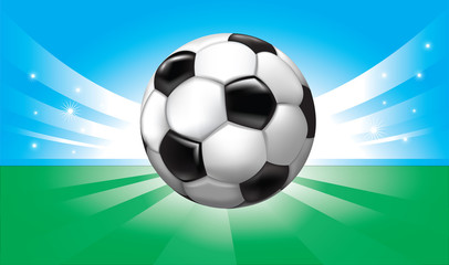 vector background with soccer ball on the stadium