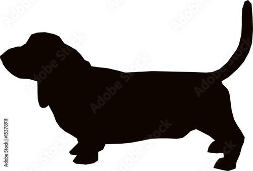hound dog silhouette