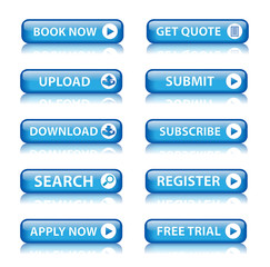 Web buttons (miscellaneous) (blue) x10
