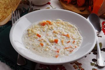 Ris a lace - Riso al latte e zucca - Primi piatti lombardia