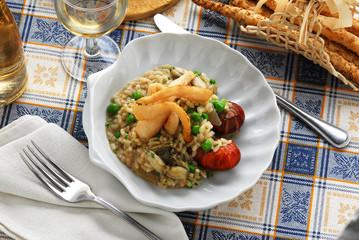 Risotto alla certosina - Primi piatti della lombardia