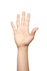 High five hand sign