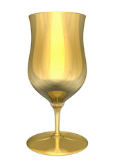 3D illustration of a golden cup