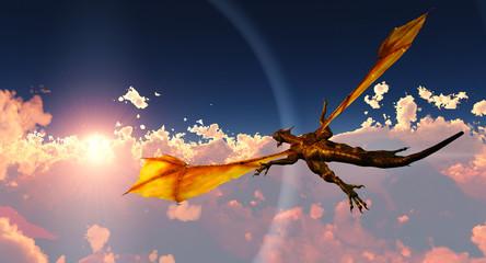 Papiers peints Dragons Flight of the dragon