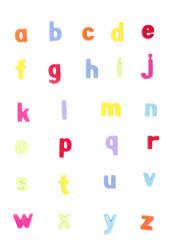 Alphabet, ABC, Colorful Set of Letters