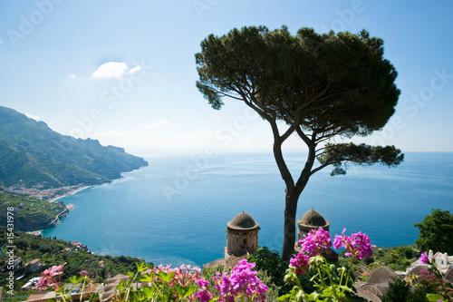 Wall mural Amalfi coast view