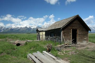 Cabin Grand Teton Wyoming usa Wall mural