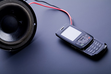 Music - speakers and mobile phone