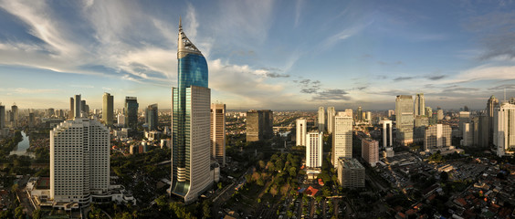 Self adhesive Wall Murals Indonesia Jakarta City Skyline
