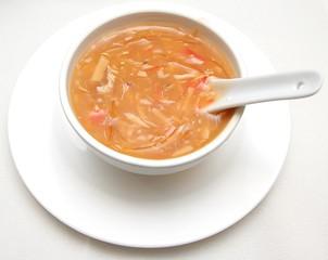 Bowl of shark fin soup