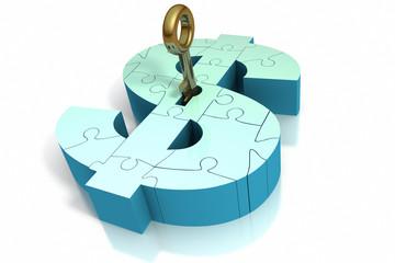 Key insert into money