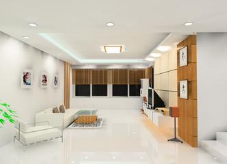 a laconic living room design