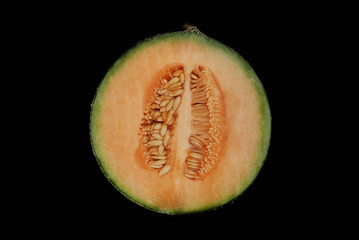 halbe Netzmelone
