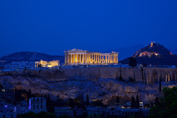 Recess Fitting Athens Night view of Acropolis, Athens, Greece