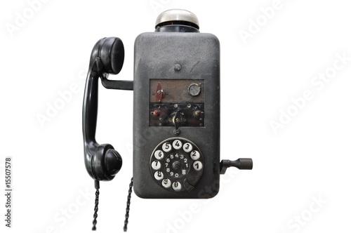 altes telefon wandtelefon stockfotos und lizenzfreie bilder auf bild 15507578. Black Bedroom Furniture Sets. Home Design Ideas