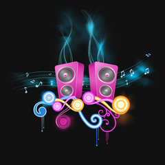 colorful party musical illustration
