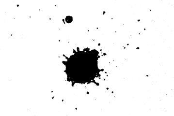 black ink on white background