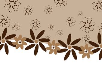 Decorative chocolate cappuccino banner for advertising