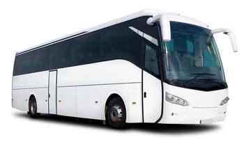 White Tour Bus Fotobehang