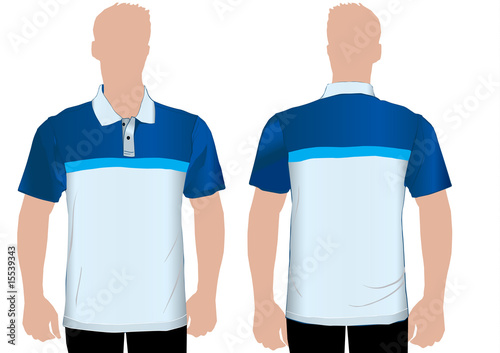 Detailed polo shirt template stock image and royalty free vector detailed polo shirt template maxwellsz