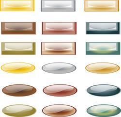 bouton, rectangle et ovale