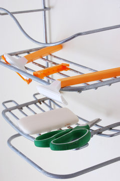 Shower Caddy with Accessories