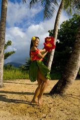 teenage hula dancer