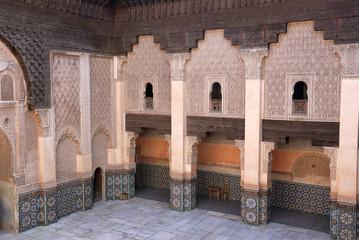 Ali Ben Youssef Madrassa in Marrakech, Morocco