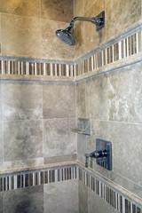 Luxury home bathroom shower.