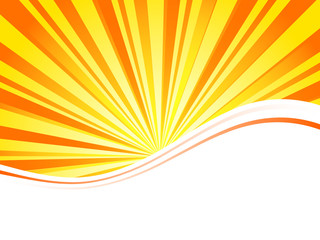 Sunburst for business brochure