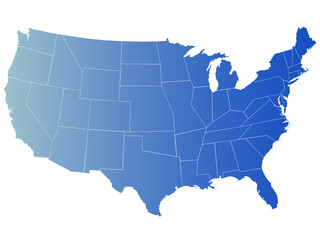 vector map of america