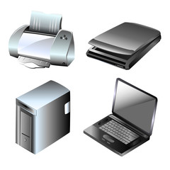 computer and equipments vector