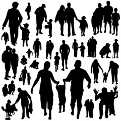 happy family collection vector