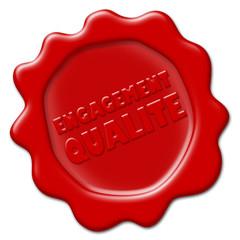 """Sceau """"Engagement Qualité"""" (rouge)"""