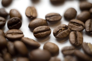 Coffee beans, close-up.