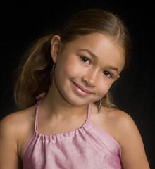 Portrait of a pretty little girl
