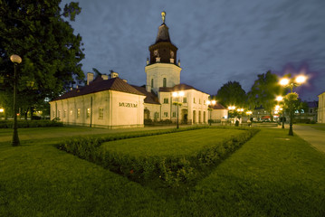 Town Hall in Siedlce, Poland at night