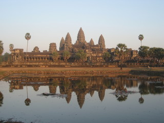 Tempel Ankor Wat Abendsonne