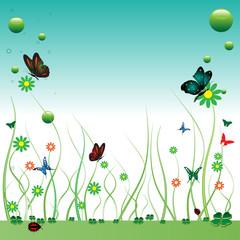 Summer with butterflies
