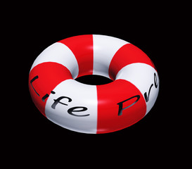 Isolated Life Preserver on Black