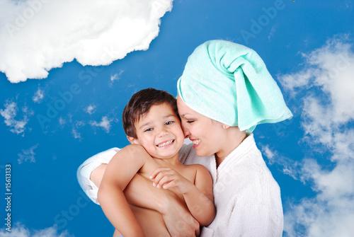 сыни мать и ванной