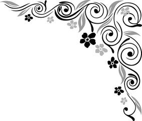 Blumen, Blüten, Ranke, filigran, ornamental