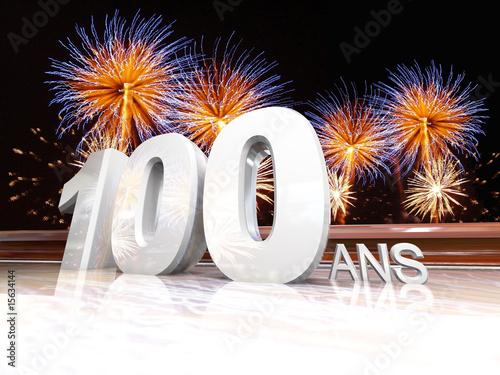 Anniversaire 100 ans feu d 39 artifice photo libre de for Dans 100 ans
