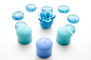 Kerzen in blau