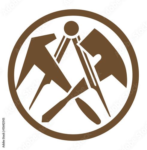 Dachdecker symbol  zunftzeichen dachdecker