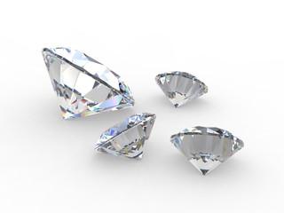 Set of round diamond gemstones